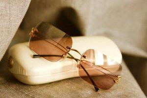 randlose Chanel Sonnenbrille