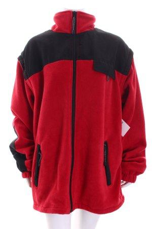 Randwik Fleecejacke ziegelrot-schwarz sportlicher Stil