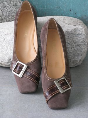 Raphael Backless Pumps black brown-brown