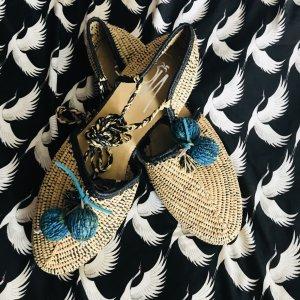 Sandalo con cinturino nero-crema