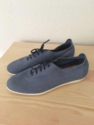 Rapidsoul Leder Sneaker Halbschuhe Damen Schuhe Echtleder blau Schnürschuhe Schnürer 38