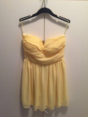 Rare london Vestido bustier amarillo pálido-negro