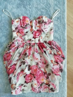 Rare london Corsage Dress cream-pink