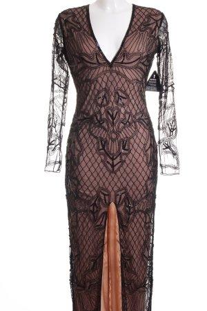 Rare london Abendkleid rosé-schwarz Elegant