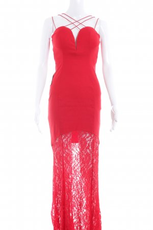 Rare london Abendkleid rot Romantik-Look