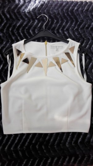 Rare London Crop Top creme gold Gr. S/36 NEU