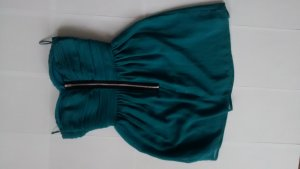 Rare London Minikleid Gr. UK 6 EUR 34 petrol Chiffon Longtop