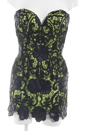 Rare london schulterfreies Kleid schwarz-wiesengrün Party-Look