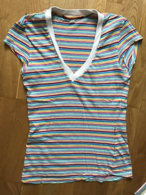 Rare london T-shirt wit-neon blauw