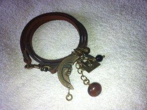 Laurèl Leather Bracelet dark brown leather