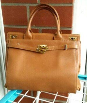 Handbag beige leather