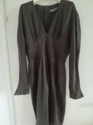 Raritaet: extravagantes Seidenkleid von THIERRY MUGLER, Vintage, Spitze Aermel, hohe Taille