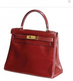 Hermès Carry Bag dark red leather