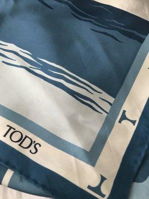 Rarität: Tuch von Tod's, das als Top getragen wird in blau