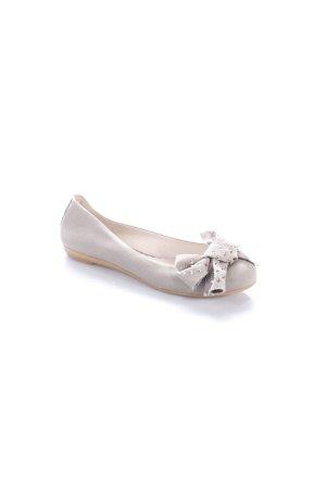 Ras Ballerinas graubraun Schleifen-Detail