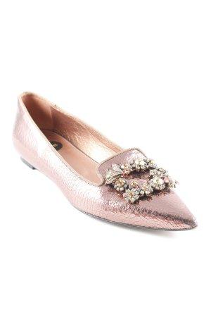 Ras Ballerinas mit Spitze roségoldfarben extravaganter Stil