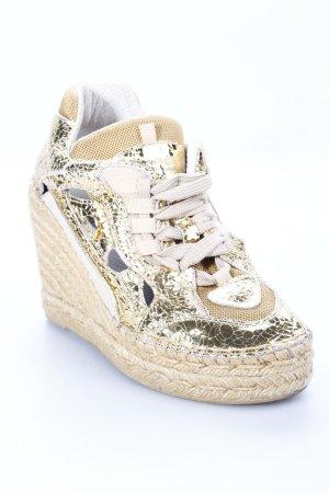 Ras Wedge Sneaker goldfarben extravaganter Stil