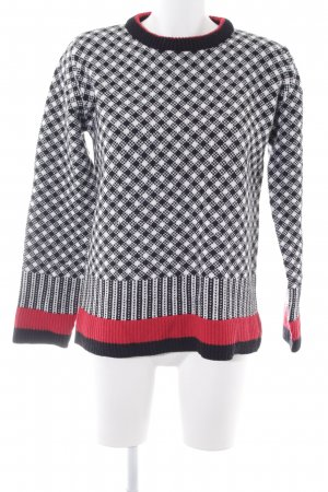 Raspberry collection Rundhalspullover Karomuster Casual-Look
