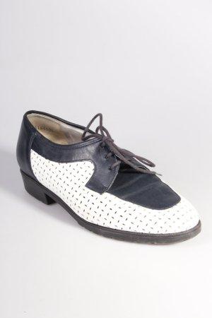 Rathgeber Vintage Schnürschuhe schwarz weiß