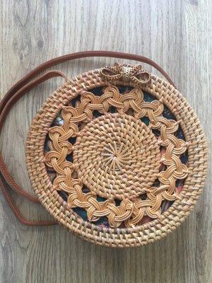 Basket Bag cognac-coloured