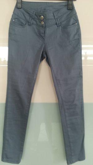 Rauchblaue Skinny Hose Gr. 36