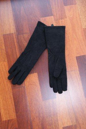 Rauhlederhandschuhe von Jones in Schwarz