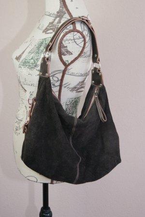 Rauhlederhandtasche von Jones dunkelbraun