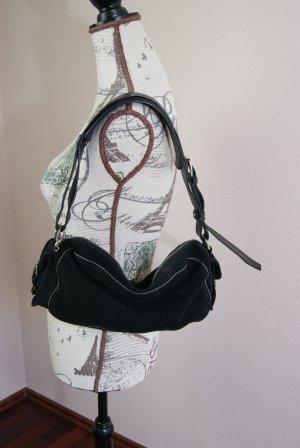 Rauhlederhandtasche von Jones in schwarz