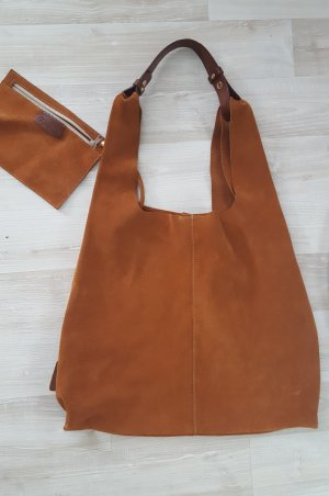 Rauleder Handtasche