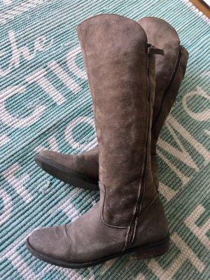 Rauleder Stiefel Florenz Boutique 38 Taupe grau Vintage assymetrisch zippführung 289 top Stiefel