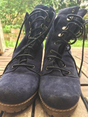 Low boot bleu foncé