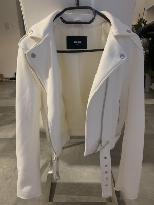 Bik Bok Leather Jacket white