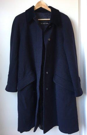 Ravens Abrigo de lana azul oscuro