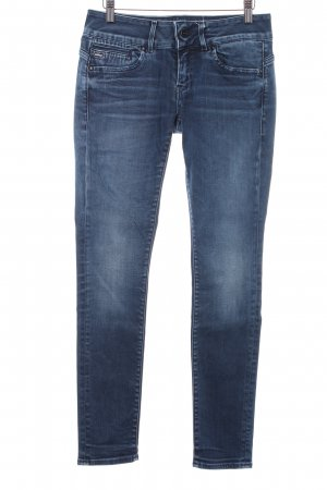 Raw Blue Jeans skinny bleu foncé style décontracté