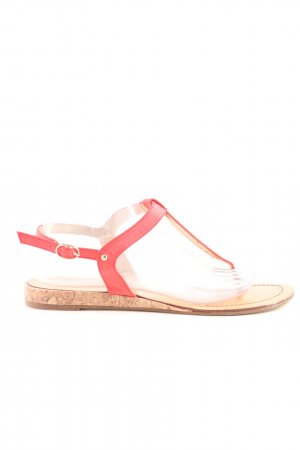 RaxMax Toe-Post sandals red casual look