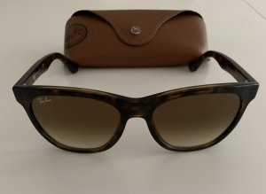 Ray Ban Oval Sunglasses dark brown