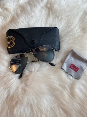 Ray Ban Aviator Glasses silver-colored