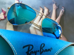 Ray Ban Glasses neon blue