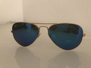 Ray Ban Aviator Glasses blue-gold-colored