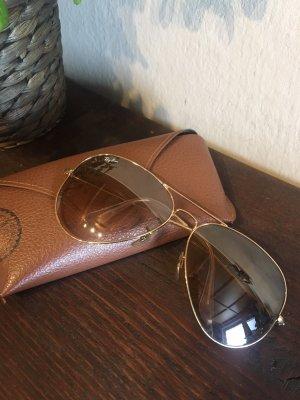 Ray Ban Pilotenbril goud-lichtbruin