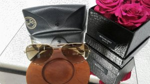 Ray Ban Aviator  Brille in gold/braun