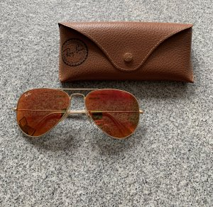 Ray Ban Aviator Glasses gold-colored-light orange