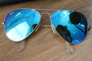 Ray Ban Aviator Large Metal blau verspiegelt