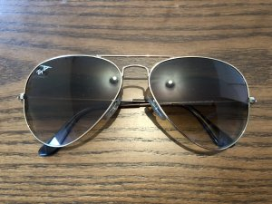 Ray Ban Aviator Large Metal Gold/braun Sonnenbrille