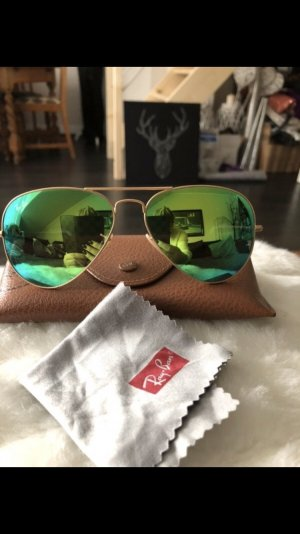 Ray Ban Aviator large Metal grün