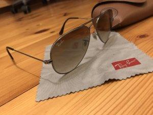 Ray Ban Pilotenbril zwart-bruin