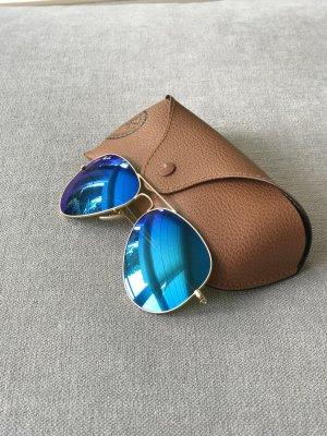 Ray Ban Aviator Pilotenbrille blau/gold