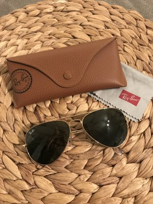 Ray Ban Aviator Pilotenbrille in Gold