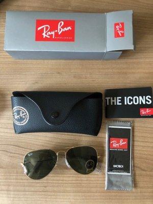 Ray Ban Pilotenbril donkergroen-goud Metaal