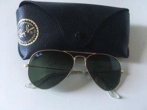 Ray Ban Aviator Schwarz  gold 55 W3242 Sonnenbrille